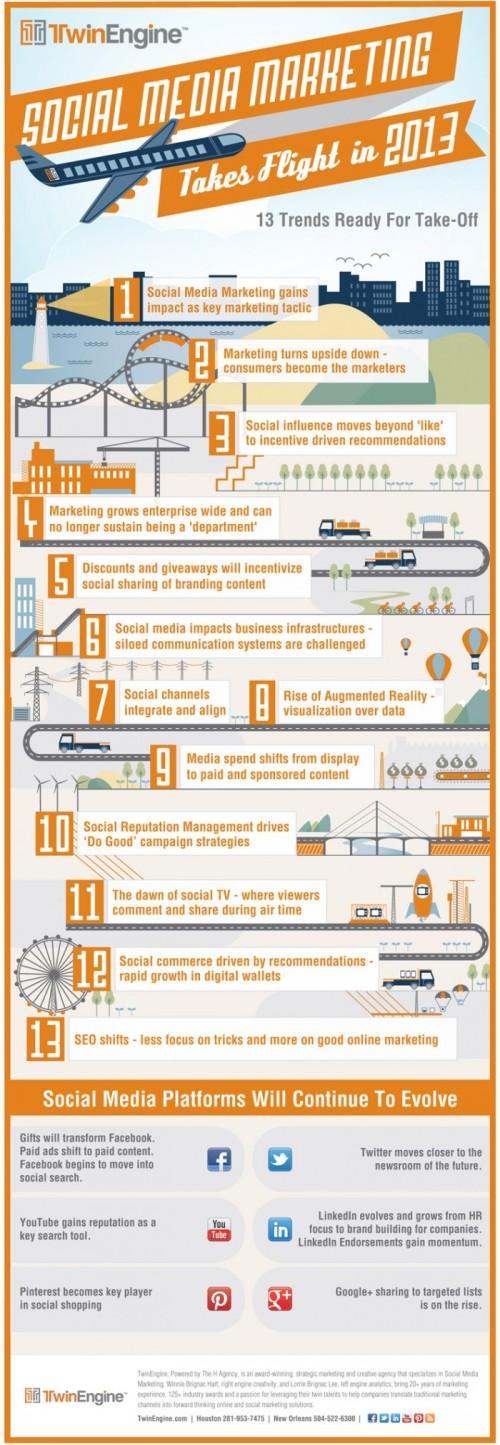 Social Media Marketing Infograph